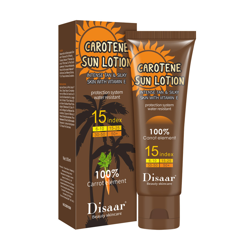 Carotene Sun Lotion Long Lasting Sunless Tanning Self Organic Self Tanner Bronze Fake Tan Body Lotion 80g 4