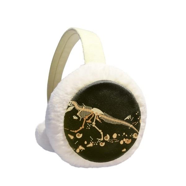 Bones Bone Miniature Dinosaur Winter Earmuffs Ear Warmers Faux Fur Foldable Plush Outdoor Gift