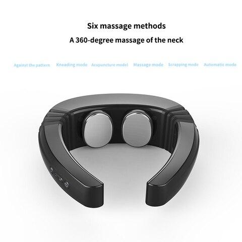 voz recarregavel inteligente massageador cervical vertebras muscular