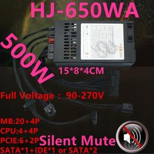 Новый блок питания для Royal Legend ITX FLEX NAS маленький 1U T39 LOLI R47 M41 K39 Номинальный 500 Вт пик 650 Вт источник питания HJ-650WA