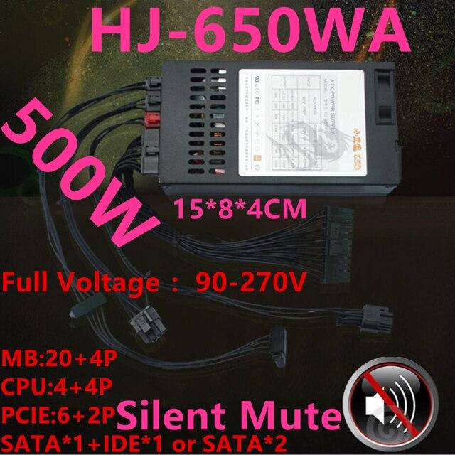 جديد PSU ل رويال أسطورة 80 زائد الذهب ITX فليكس ناس صغير 1U T39 LOLI R47 M41 K39 تصنيف 500 واط الذروة 650 واط امدادات الطاقة HJ 650WA