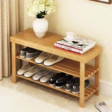 Factory Direct Multi-layer Shoe Rack Simple Bamboo Shoe Cabinet Wholesale Dormitory Shoe Shelf Porch Storage Cabinet