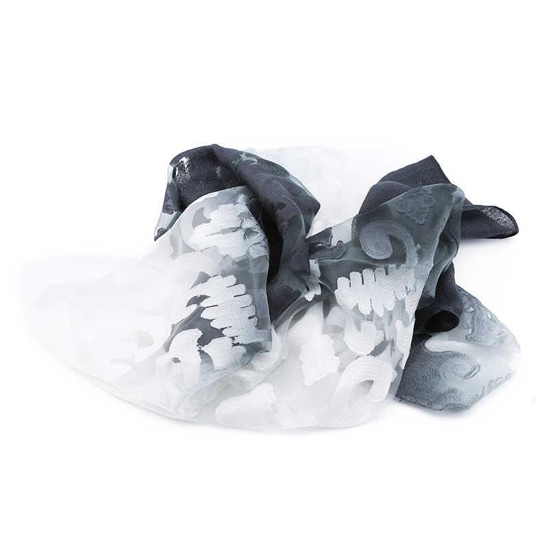 新しい女性勾配のスカーフ冬秋 Pashimina スカーフ女性ラップ薄型エレガントなショールスカーフ