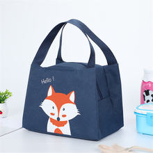 Fashion insulated cooler box lunch portable food picnic bag