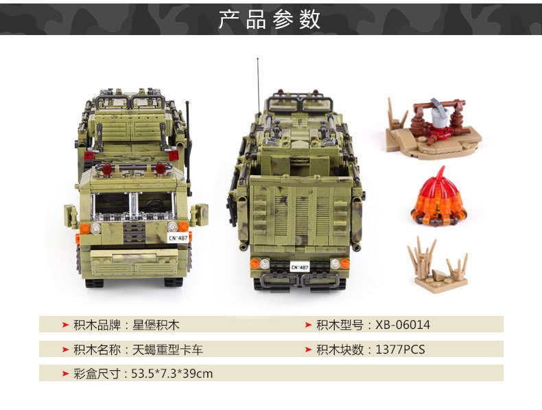 1377Pcs XINGBAO Building Blocks Toys легоe military 06014 Cross The Battlefield Series Bricks Truck Model Gift for Children 4PX 22