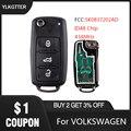 Пульт дистанционного управления YLKGTTER  подходит для VW/Volkswagen Caddy Eos Golf 4 Beetle Polo Up Tiguan Touran с чипом ID48 5K0837202AD 434 МГц