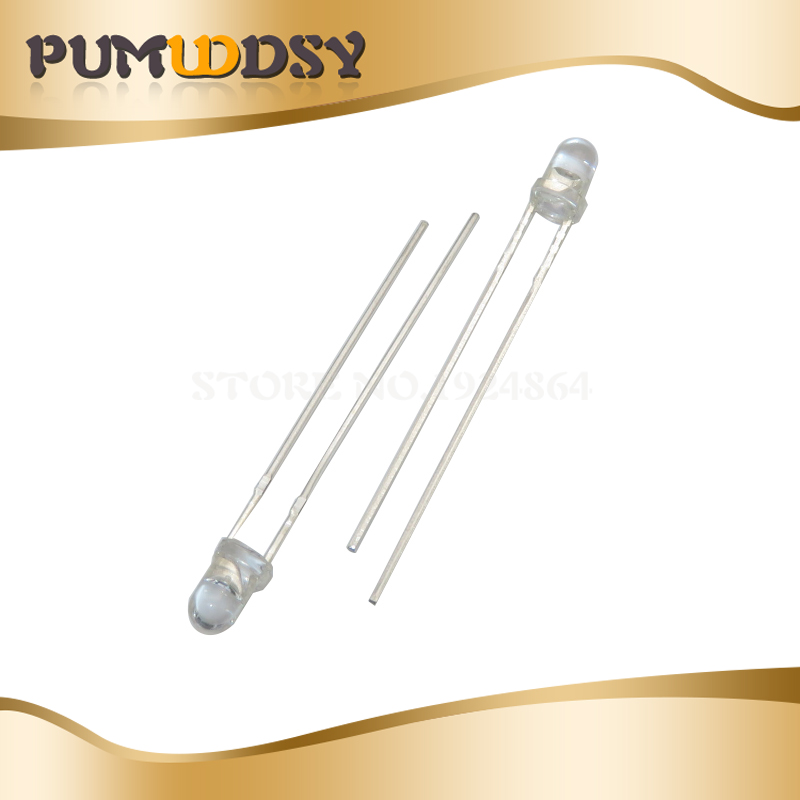 20pcs 3MM Photodiode Photosensitive Receiver Photosensitive Receiver Diode Photosensors