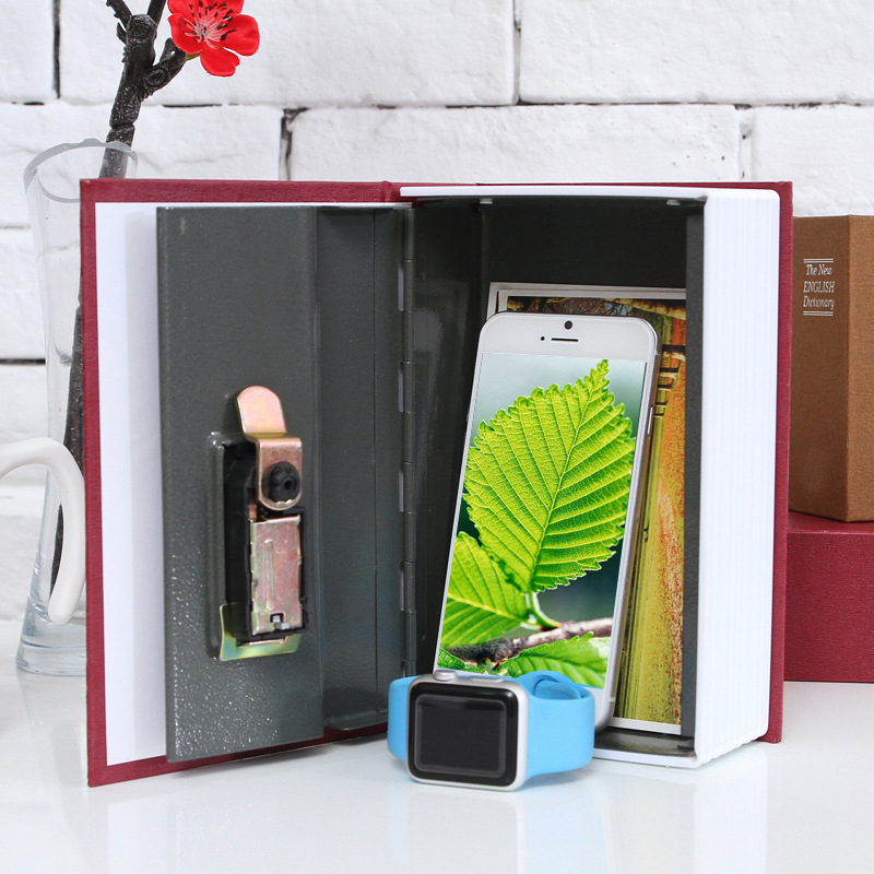 2size Book Safe Box Popular Secret Book Money Hidden Secret Security Safe Lock Cash Money Coin Storage Jewellery Password Locker