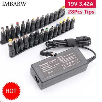 19V 3.42A 65W Universal Laptop Power Adapter Charger for Lenovo Asus Acer Dell HP Samsung Toshiba Laptop with 28 Connectors 19v3 42a 19v 3 42a 65w 5 5 2 5mm ac power adapter for asus x501a x502c x51 x55a x550cc x550vb v451la x450ca x55vd laptop charger