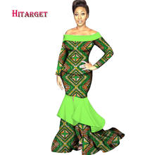 Новые Африканские Восковые платья для женщин 2019 bazin богатые