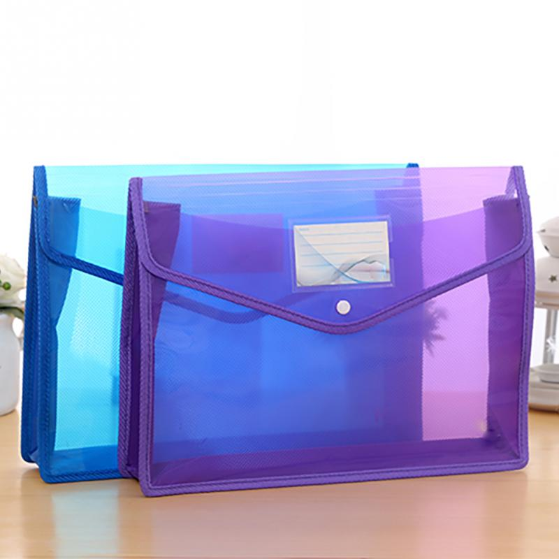 A4 Large Capacity Transparent Document Holder Lightweight Thicken Office School File Bag Portable Waterproof Folder Storage Bag
