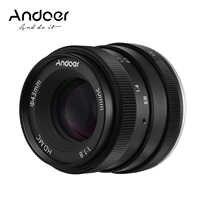 Andoer-lente de cámara Digital de gran apertura, 50mm, F1.8, para Canon M2/ M3/ M5/ M6/ M10/ M100/ M5 0 EOS-M