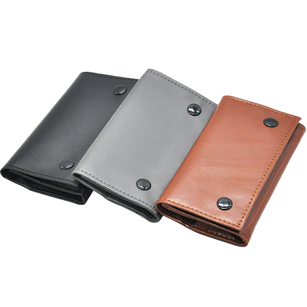 PU Leather Tobacco Pouch Bag Pipe Cigarette Holder Waterproof Smoking Paper Holder Wallet Bag Portable Tobacco Storage Bag