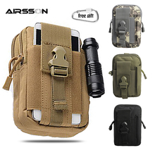 Tactical EDC Molle Pouch Military Belt Waist Bag Purse Phone Case Flashlight Hol