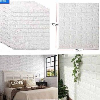 Pegatina de pared de ladrillo 3D, decoración autoadhesiva DIY, papel tapiz de cobertura impermeable de espuma para habitación de niños, pegatinas de cocina