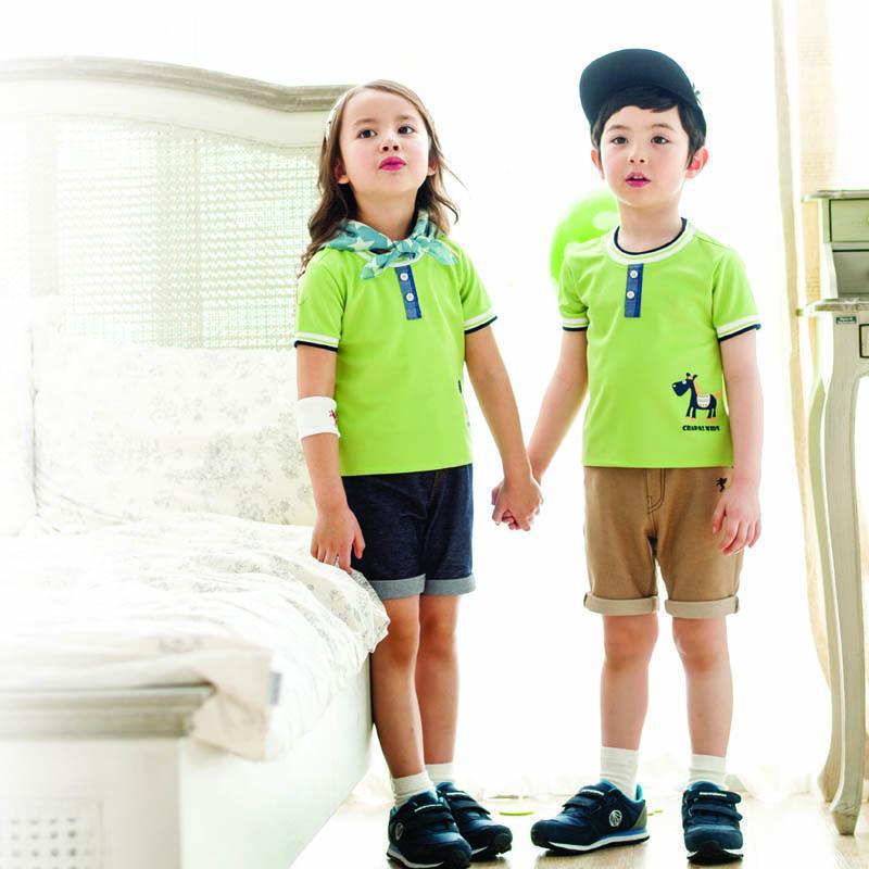 2019 Summer New Style Korean-style Pure Cotton Children Kindergarten Suit Junior High School Young STUDENT'S School Uniform Set