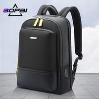 BOPAI Männer Rucksack 2020 Neue Mode USB Schnelle Lade Fit 15,6 Zoll Laptop Männlichen Reisetasche Multi-Schicht Raum anti-Diebstahl Mochila
