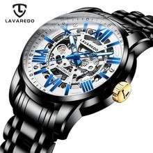 Lavaredo luxe automatique montre mécanique pour hommes squelette montre haut marque entreprise en acier inoxydable montre bracelet A5