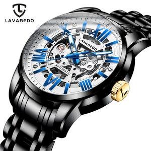 Image 1 - Lavaredo, reloj mecánico automático de lujo para hombre, reloj de pulsera de acero inoxidable de negocios de primera marca A5