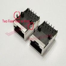 20PCS/Lot Shield RJ45 8P8C Jack Connector No LED 21MM PCB Mount Network Internet Modular