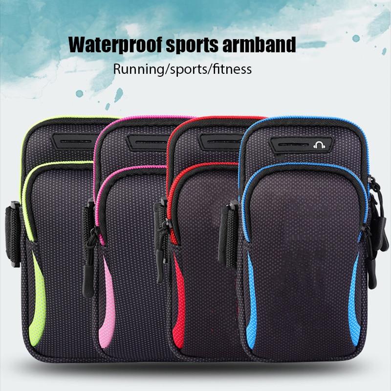 Универсальный мобильный телефон чехол водонепроницаемый спортивный чехол для телефона на руку сумка для бега и занятий спортом нарукавные...