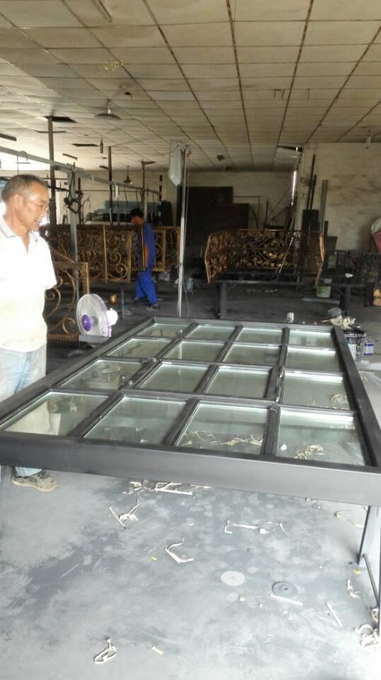Hench China Factory Custom Design Slimmer Villa Luxury Steel Iron French Doors