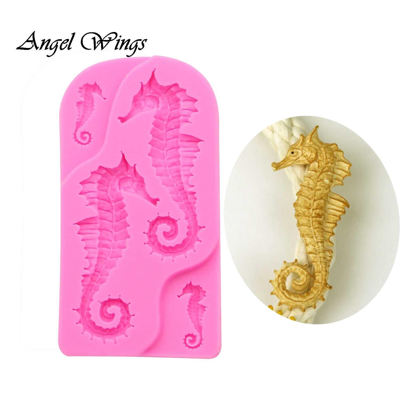 3D Sea Horse Silicone Cake Decor Fondant Sugarcraft Mould Chocolate Baking Mold