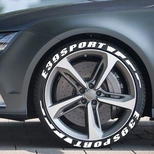 Image 1 - Letras de borracha 3d etiqueta do pneu carro para bmw e39 520 520i 528i 530i 540i 4.4 v8 m52 m52/tu m54 m sport wagon acessórios do carro esporte