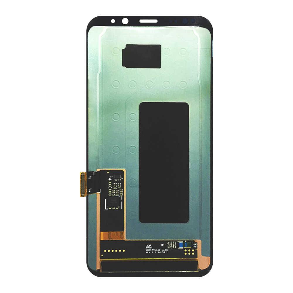 LCD S8 زائد لسامسونج غالاكسي S8 زائد G955 G955F G955A G955T G9550 سوبر AMOLED شاشة الكريستال السائل 100% اختبار اللمس شاشة الجمعية