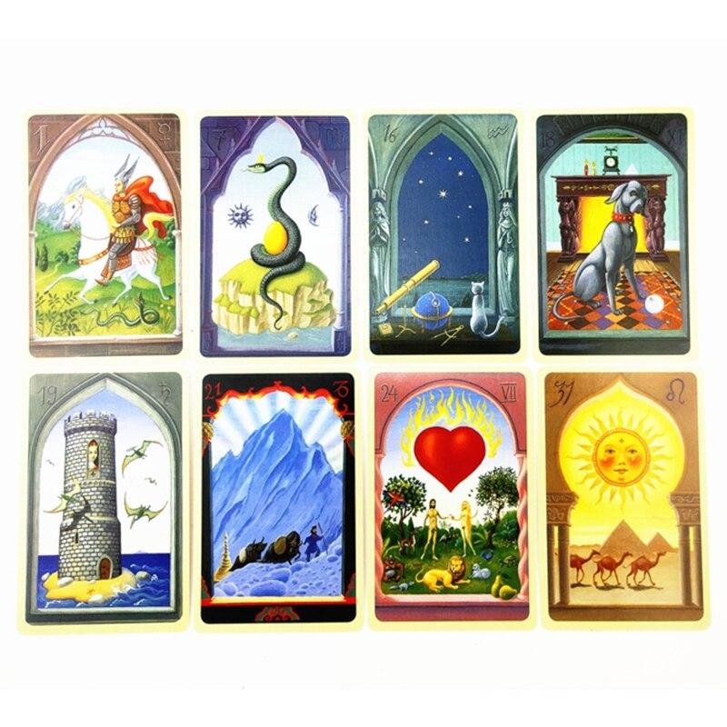 Mystique Lenormand Oracle carte complet anglais 36 cartes Deck Tarots drôle jeu de société D2TC