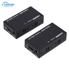 1 Pair HDMI-compatible Extender Cat5e Cat 6 Ethernet IP TCP Signal HDMI To Lan Converter 1080P 3D HDMI Transmitter Receiver 60M