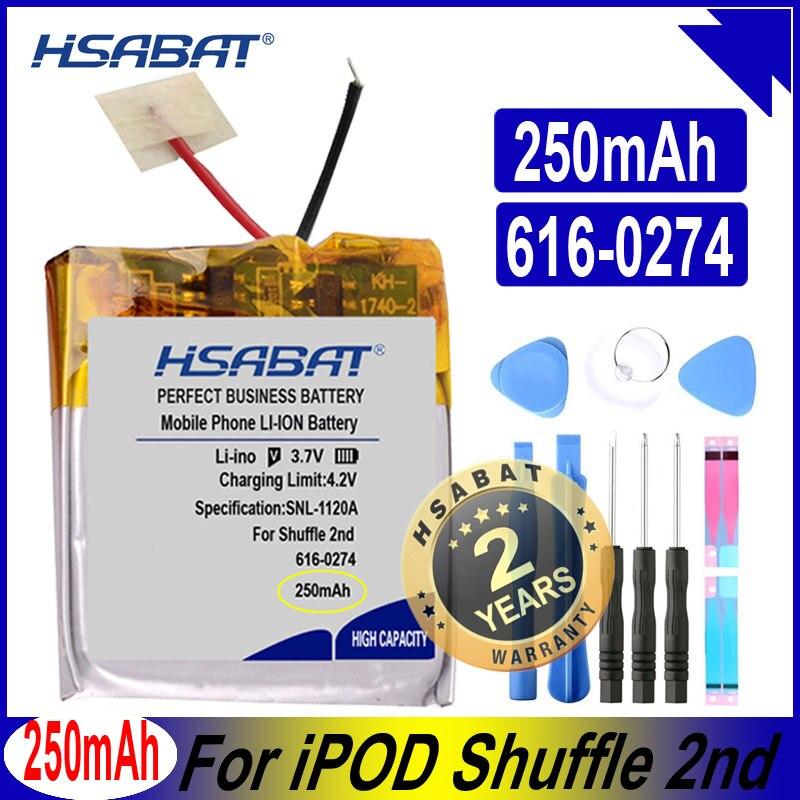 HSABAT 616-0274 250mAh Battery for iPOD Shuffle 2nd Generation 2 Shuffle2 G2 G3 3 616-0278 Batteries(China)