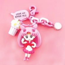 High Quality 2019 New Dongsheng arrival Sailor Moon figure Key Chain anime sex Girl ring