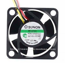 цена на 2 pcs SUNON KDE1204PKV1 MS.A.GN 40x40x20mm 40mm 4cm DC12V 0.8W Server Cooling Fan Server Square Fan 3-wire