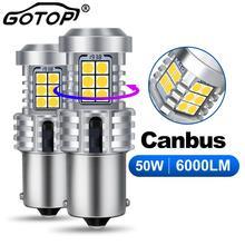 2 шт. 1156 BA15S P21W BAU15S PY21W Светодиодный лампочки Canbus не Hyperflash 360 ° светильник ing 50 Вт 6000LM Обратный лампы сигнала поворота светильник