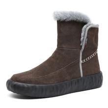 цена Fashion Men Boots Men Winter Shoes Warm Ankle Botas For Genuine Leather Winter Boots Shoes Men Plush Winter Sneakers Mens онлайн в 2017 году