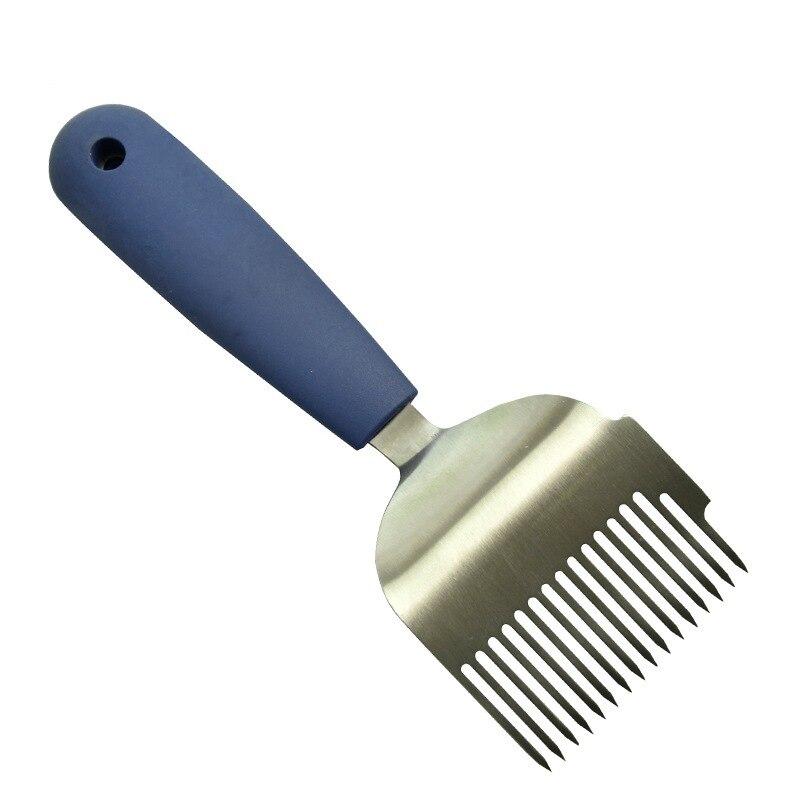 Plastic Handle Stainless Steel Honey Comb Scraper Uncapping Fork Beekeeping Tools Cut Honey Fork Remove Beehives Impurities Q1