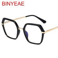 Gafas de bloqueo de luz azul para mujer, marco cuadrado de gafas hexagonales, gafas de ordenador Vintage, gafas hombres ópticos, 2021