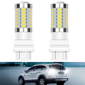 2x car LED Bulbs 3157 T20 Canbus Error Free LED Backup Light 1156 BA15S 7443 Reverse lamp For BMW E60 E90 E87 E46 E39 F20 F10 X3 image