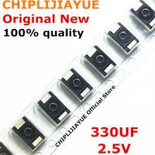 Condensadores tántalo SMD de polímero, 50-100 Uds., 2R5TPE330M9, 330UF, 2,5 V, 6,3 V, tipo D, ultrafinos, 330 D7343, nuevos y originales