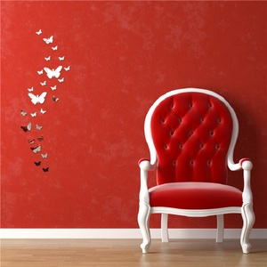 Image 3 - 12 個 3D ミラー蝶のウォールステッカーデカール壁アートリムーバブルルームパーティー結婚式の装飾ホームデコ用子供ルーム