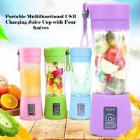 HOTSALE USB Aufladbare Tragbare Einfach Mixer Mini Entsafter Multi Funktion USB Lade Saft Tasse Obst Elektrische Saft Mischen Tasse-in Manuelle Entsafter aus Heim und Garten bei