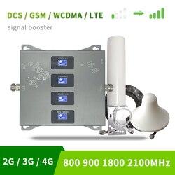 B20 800 900 1800 2100 Mhz amplificador de teléfono celular Tri Band, amplificador de señal 4G LTE móvil 2G 3G, repetidor celular GSM DCS WCDMA Set