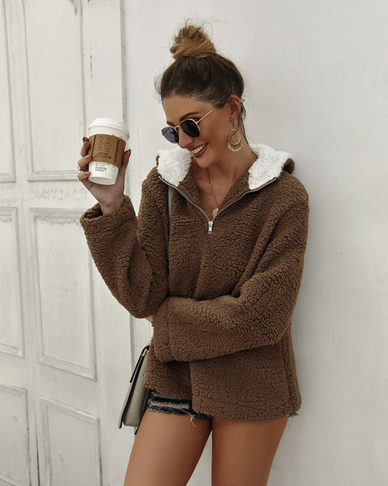 2019 New Oversized Hoodie Sudadera Mujer Women Hoodies 2018 Winter Zipper Blouse Sudaderas Para Mujer Long Sleeve Women Clothes in Hoodies amp Sweatshirts from Women 39 s Clothing