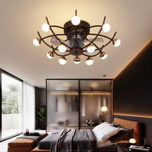 IKVVT Kreative decke fan lampe esszimmer schlafzimmer wohnzimmer mit bluetooth audio Fernbedienung fan lampe