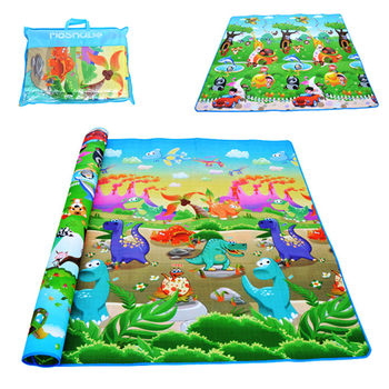 Double Surface Baby Carpet Rug Dinosaur Developing Mat for Children Game Pads Foldable Baby Play Mats 0.5cm Thick Crawling Mats
