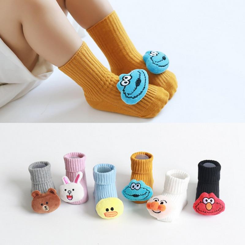 2020 Cartoon Newborn Baby Boys Girls Socks Soft Comfortable Spring Autumn Socks