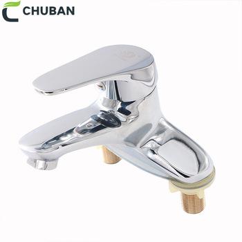CHUBAN trwała pojedyncza dźwignia bateria do łazienki chrom polerowany solidny mosiężny mieszacz wody do umywalek woda z kranu zawory mieszające podstawowe baterie umywalkowe C55 tanie i dobre opinie CN (pochodzenie)
