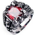 Creative Dragon Claw Crystal Ring for Men Cool Biker Punk Rock Rap Rings For Male Necessary Accessories For Nightclubs&Bars