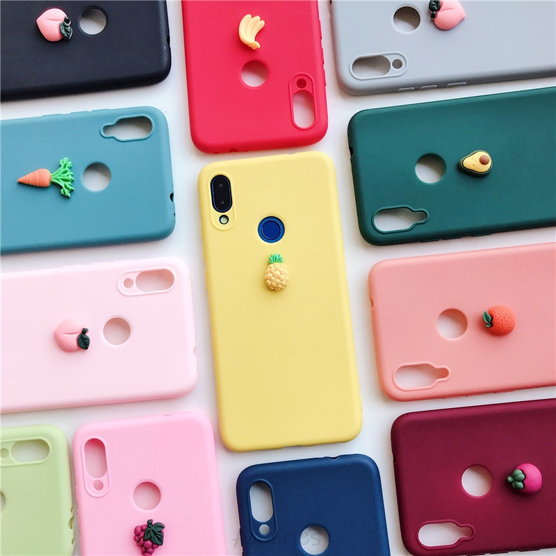3d Leuke Siliconen Fruit Case Op Voor Xiaomi Redmi Note 8 T 8 8a 7 7a K20 Note 6 5 4 4x pro Plus Prime Soft Tpu Cover Coque
